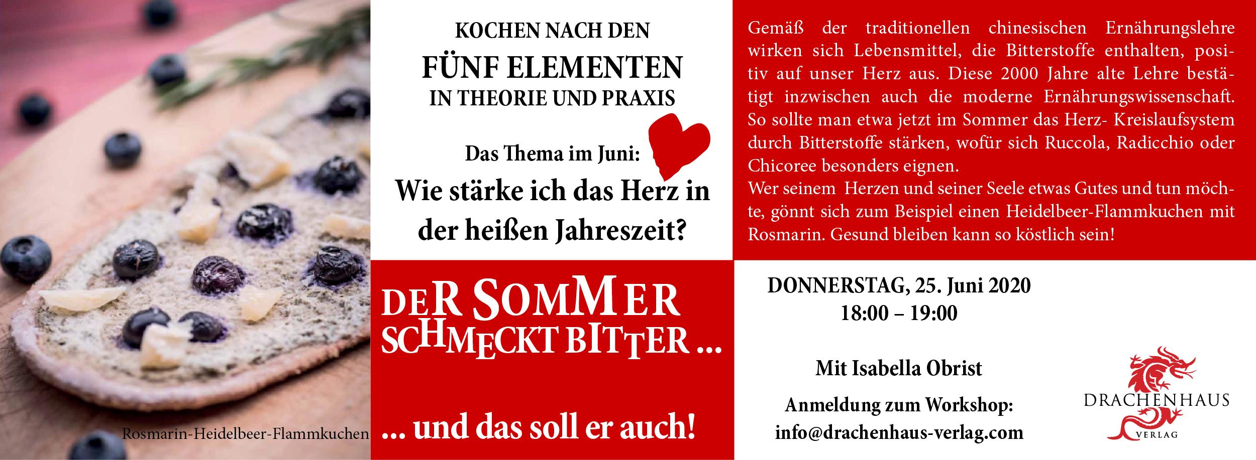 Heidelbeer-Rosmarin-Flammkuchen, Glücksrezepte, Drachenhaus Verlag
