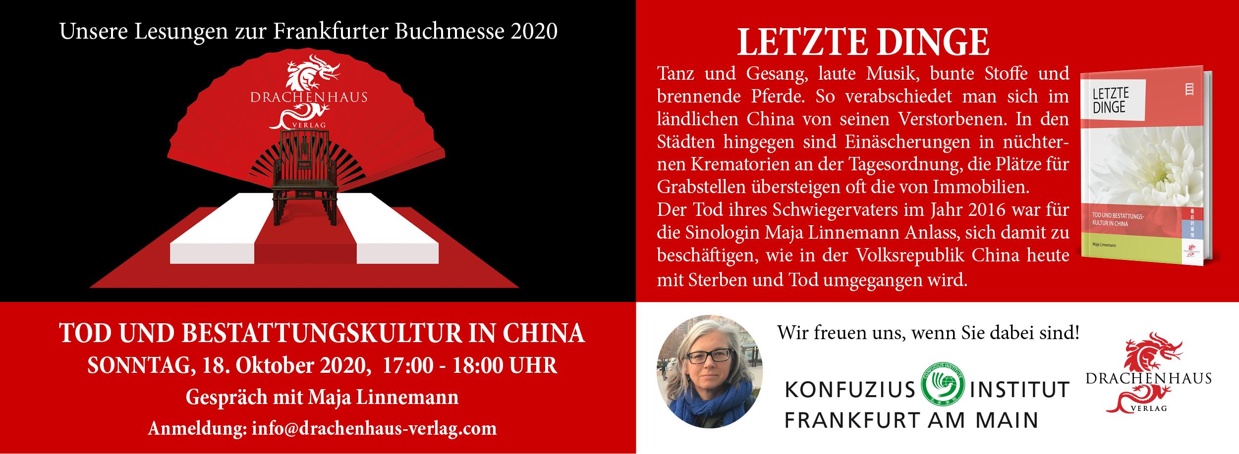 Letzte Dinge. Tod und Bestattungskultur in China. Drachenhaus Verlag